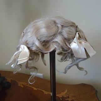 Lovely Blonde Mohair wig