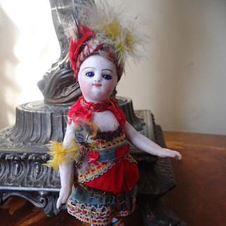 Barefoot All Bisque with Elaborate Original Costume