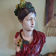 Large Carrier- Belleuse French Plaster Bust
