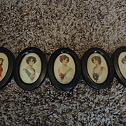 Lovely Harrison Fisher Lady Portraits in a metal frame