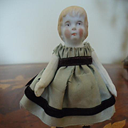 Sweet Little All Bisque doll for dollhouse