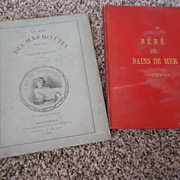 Two Lovely Antique French Books to Display with your Bebes