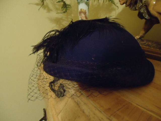 Black Vintage Ladies Hat