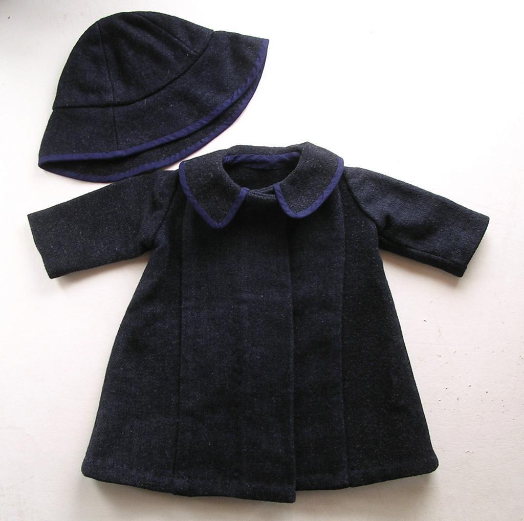 Vintage Wool Doll's Coat & Hat