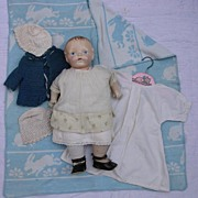 "19"" Composition Mama Doll with Wardrobe Items"