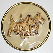 Vintage Scottie Dog Brooch
