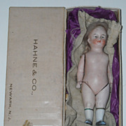 "6"" All Bisque Doll with Original Wig"