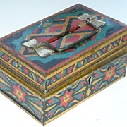 Old Tin Document Box / Toy Bank