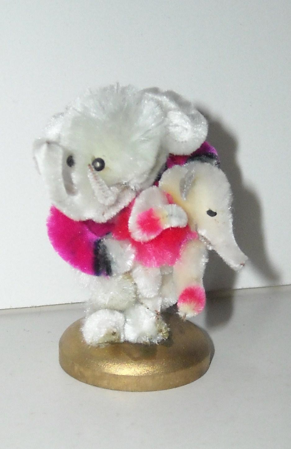 Vintage Chenille Elephants