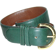 Coach Leather Belt 8500 Bottle Greene