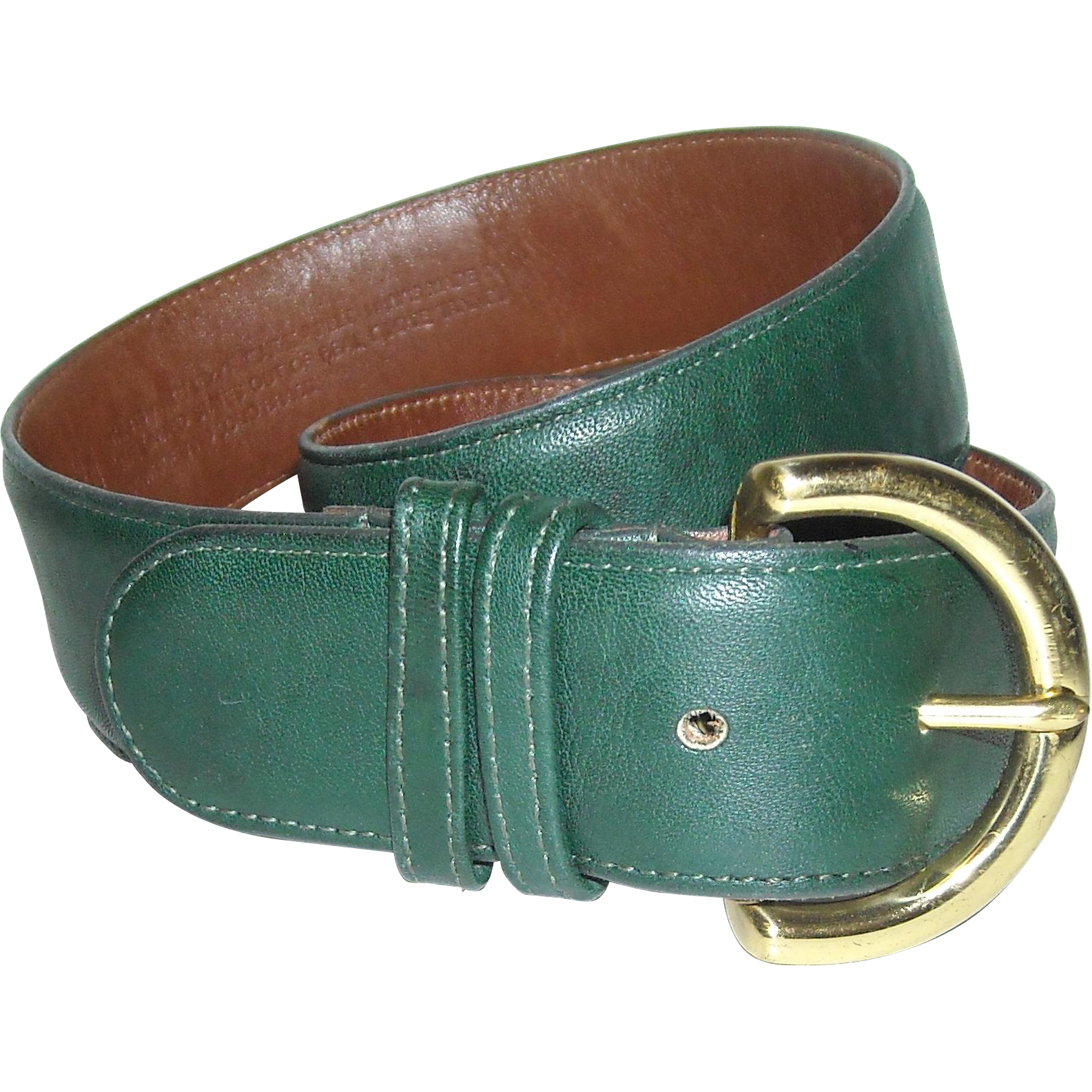 Coach Leather Belt 8500 Bottle Green
