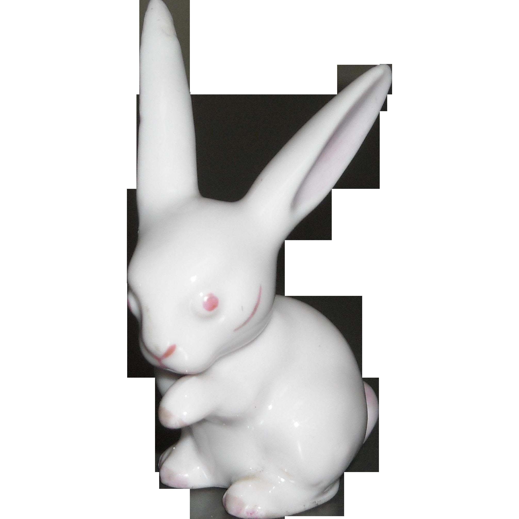 Metzler & Ortloff Porcelain Rabbit Figure