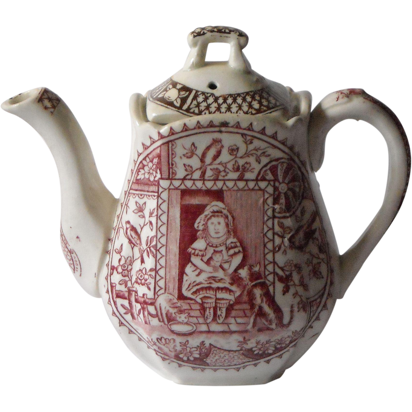 Child's Transferware Teapot