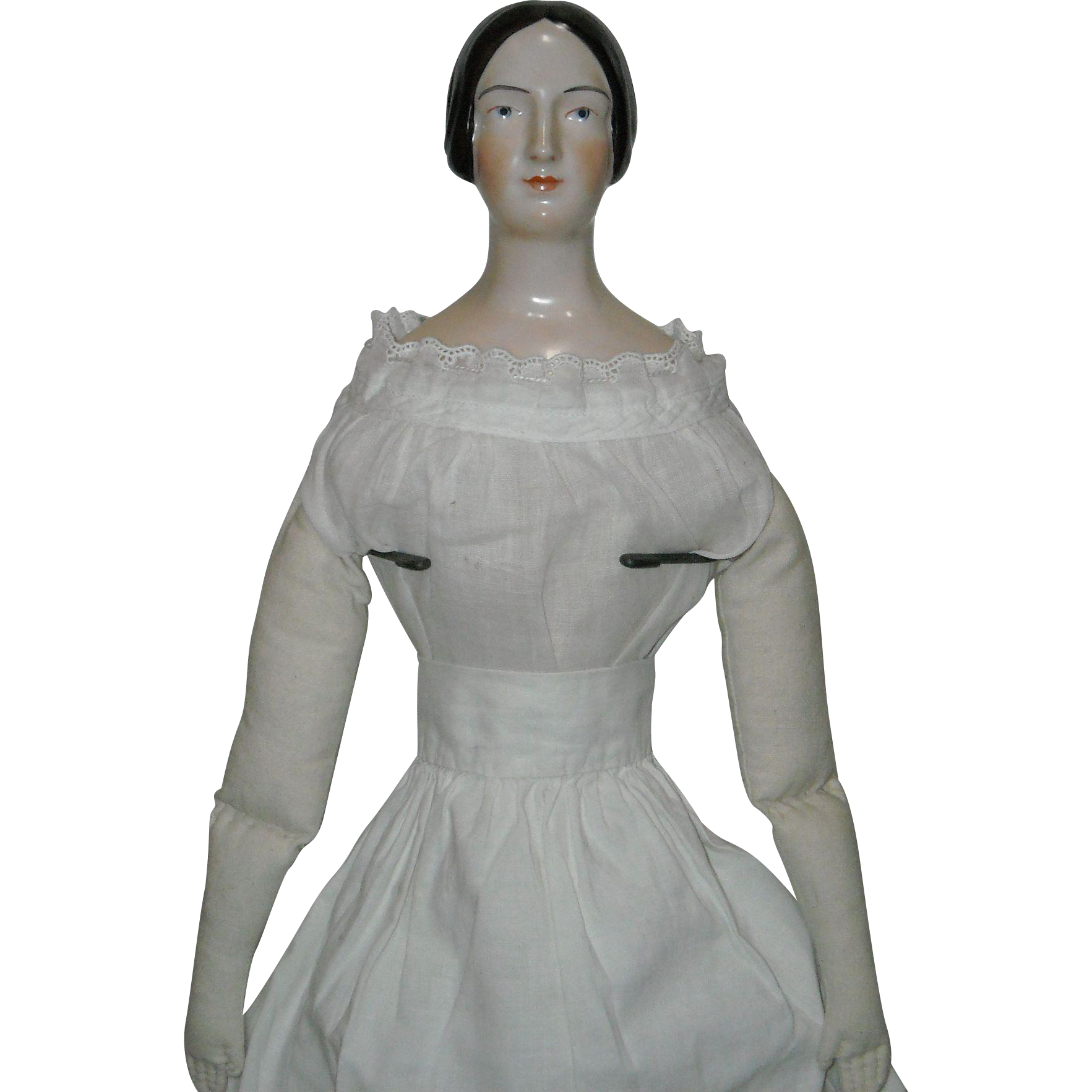 Large Royal Copenhagen Reissue Doll Head with Body and Garments