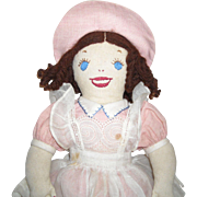 Cloth Doll with Embroidered Features
