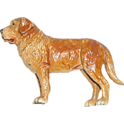Painted Metal St. Bernard Dog