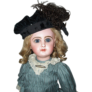 Velvet and Feather Doll Hat