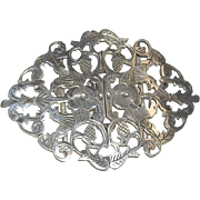 Victorian Era English Silver Buckle