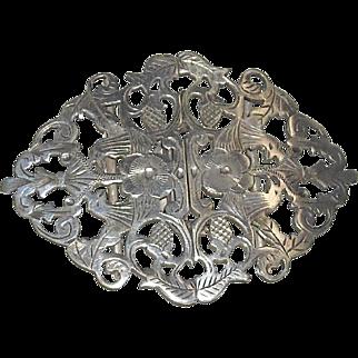 Victorian Era English Silver Buckle