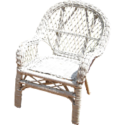 Doll Sized Painted Wicker Chair