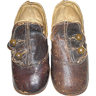 Brown Button-Up Shoes