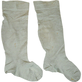 Large Doll Stockings Pale Blue