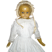 "20"" Poured Wax Doll with Sleep Eyes by Lucy Peck"