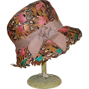 Vintage Coralie Hat with Feathers