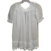White Baby Dress with Crochet Edging