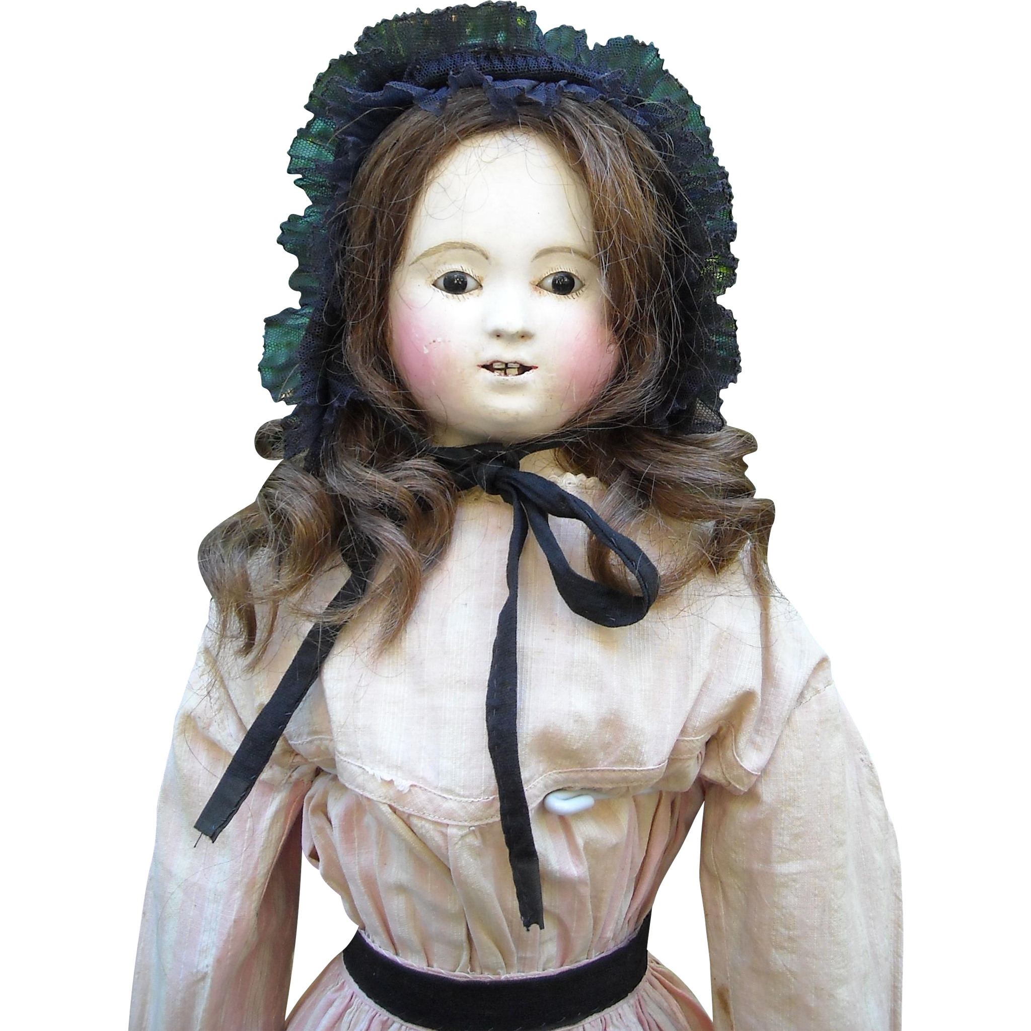 "26"" French Papier Mache Pauline Doll by Andreas Voit"