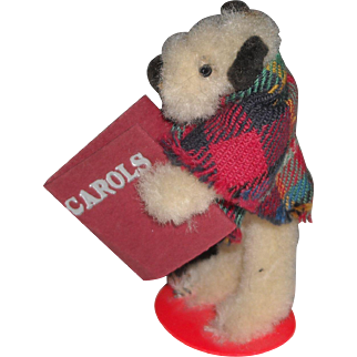 Chenille Terrier Dog with Carols Book