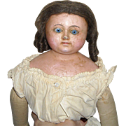 "27"" Wax Over Composition Doll with Wire Eye Movement"