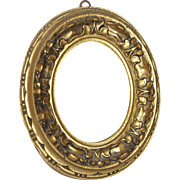 Small Vintage Oval Mirror