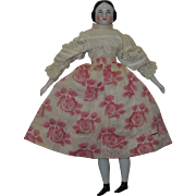 "8"" Covered Wagon China Doll in Original Clothing"