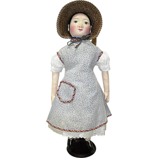 Early Printed Cotton Apron or Pinafore
