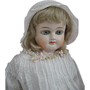 Fabulous Early Sonneburg Papier Mache Doll Lovely Condition