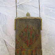 Circa 1915 Whiting and Davis Mesh Bag Purse Very Fine