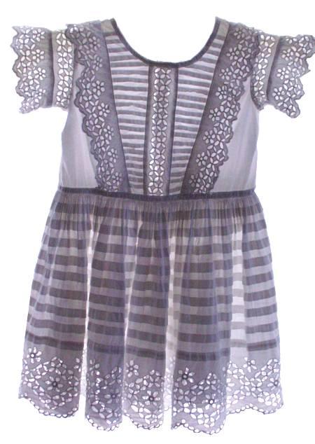 1860s White Work Dress Civil War Era Elaborate Cotton Dress for Child Remarkable Condition