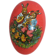Charming Vintage Papier Mache Easter Egg Germany