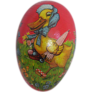 German Vintage Papier Mache Easter Egg