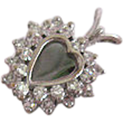 14 Karat and Diamond Heart Pendant