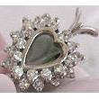 14 Karat and Diamond Heart Pendant