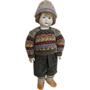 Michael and Lynne Roche Collectible Doll Teddy Porcelain Head and Hands Wooden Body Reserved for M.