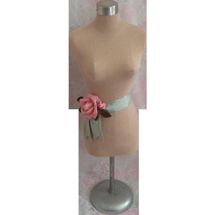Fabulous Vintage Table Top Half Size Dress Form Mannequin Shabby