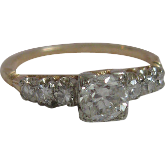 Outstanding Vintage Diamond Ring Very Fine Diamonds