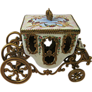 Fabulous Fantasty Vintage Carriage Cinderella's Coach Made in Austria Enameled