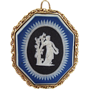 Rare Victorian Three Tone Colors Wedgwood Pendant Cameo