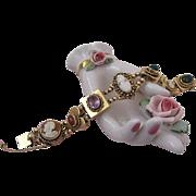 Wonderful Vintage 14 Karat Gold 8 Slide Bracelet
