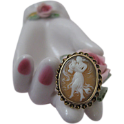 Rare Cameo Ring with Dancer
