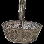Viennese Circa 1805 Filigree Sewing Basket